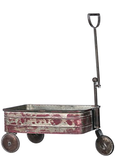Sullivans Three Wheel Metal Red Gardening Wagon