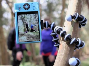 JOBY Gorillapod Flexible Tripod (Black/Charcoal) and  Bonus Universal Smartphone Tripod Mount Adapter