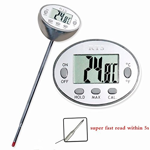 (RTS Waterproof fast read digital cooking thermometer, BBQ Meat thermometer, Household thermometer, Kitchen thermometer, instant read grill thermometer for soup ,coffee,turkey etc!)