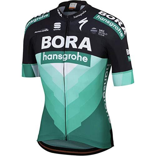 Sportful Bora Hansgrohe Bodyfit Team Jersey - Men's Black/Green, L from Sportful