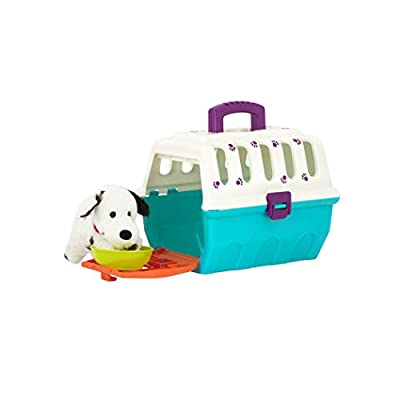 Battat - Dalmatian Vet Kit - Interactive Vet Clinic and Cage Pretend Play for Kids (15 pieces): Toys & Games