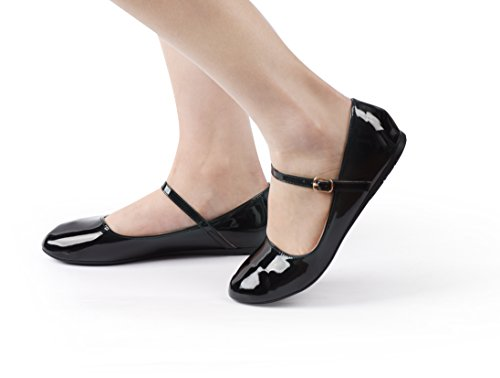 Utopia Women's Mjnew Flats Ballet Blackpatent Style Nova Jane Mary BOAwnvOdq