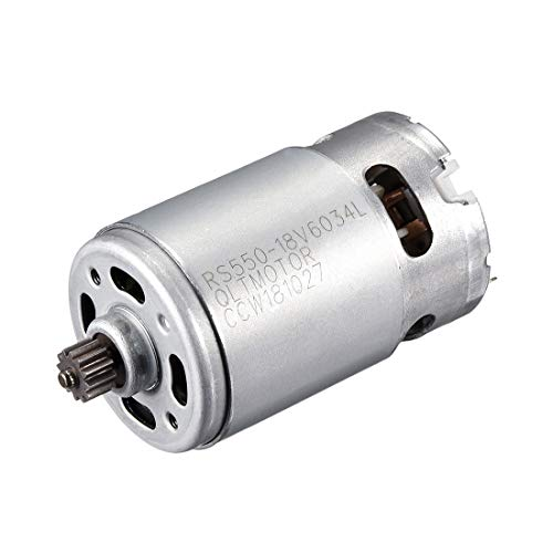 uxcell DC 18V 20500RPM Electric Gear Motor 12 Teeth for Cordless Screwdriver (18 Volt Dc Motor)