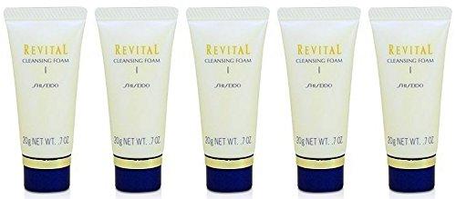 Shiseido Revital Cleansing foam I 20g x 5 tubes  , travel si