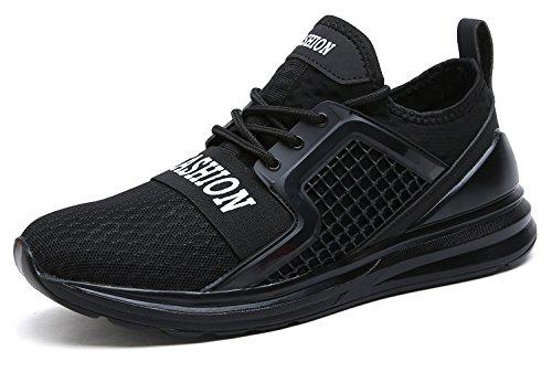 Respirant Baskets Noir Hommes Chaussures Mesh Sport Formation Fitness Run Facilement Le De Vitike Pour Courir 1PA0q