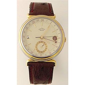 Uhr theorein Kelek Herren T300 Schalter Stahl Quandrante weiß Armband Leder