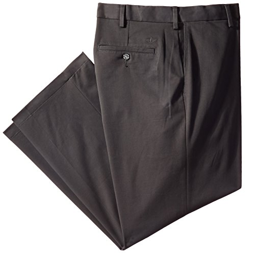 Dockers Men's Comfort Khaki Stretch Relaxed-Fit Flat-Front Pant, Steel Head (Stretch), 40W x 30L