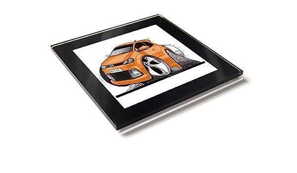 Koolart Cartoon Car Volkswagen VW Polo GTI Mark 5 Posavasos de ...