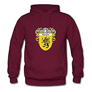Morgan_coat_of_arms_mantled Comfortable X-large Hoodies Designed For Women Burgundy
