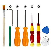 Younik 9 Piece Complete Opening + Repair Tools Screw Driver Kit For Nintendo Wii, NDS, NDSL, DS Lite, GameBoy Advance, Nintendo 64