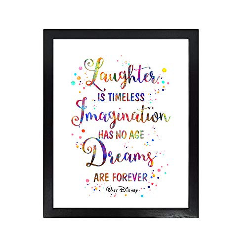 Dignovel Studios Unframed 8X10 Laughter is Timeless Imagination Has No Age Dreaming is Forever Inspirational Quotes Watercolor Art Print Poster dnc28
