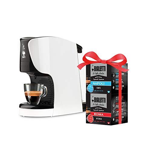 Bialetti Opera – Cafetera expreso de aluminio con sistema de café de Italia, roja + 32 cápsulas de regalo, 1450 W, 15…