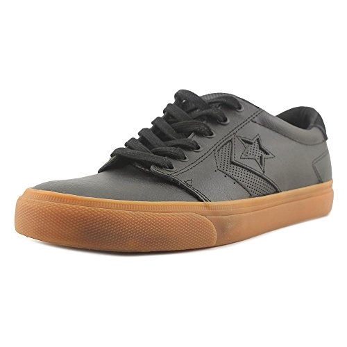 Converse Mens Ka3 Leather Ox Basse Scarpe Da Skate Nero / Gomma