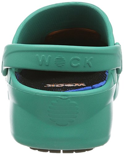 Wock Unisex Green INKL Adults' Nube Clogs Einlage 4510060 Black Grün T7wTxpq