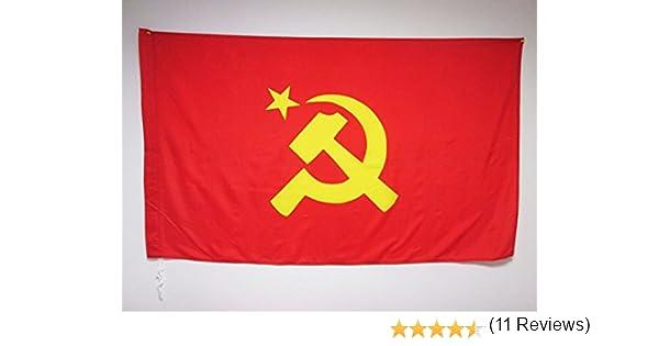 AZ FLAG Bandera de la URSS con Logo Grande 150x90cm para Palo ...
