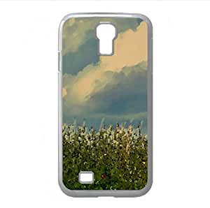 Wheat Field With Red Poppy Watercolor style Cover Samsung Galaxy S4 I9500 Case (Landscape Watercolor style Cover Samsung Galaxy S4 I9500 Case)