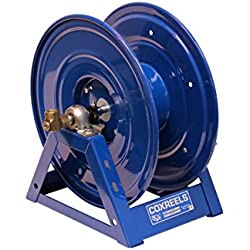 "Coxreels 1125-4-100 Steel Hand Crank Hose Reel, 1/2"" Hose I.D., 100' Hose Capacity, 3,000 PSI, without Hose, Made in USA"