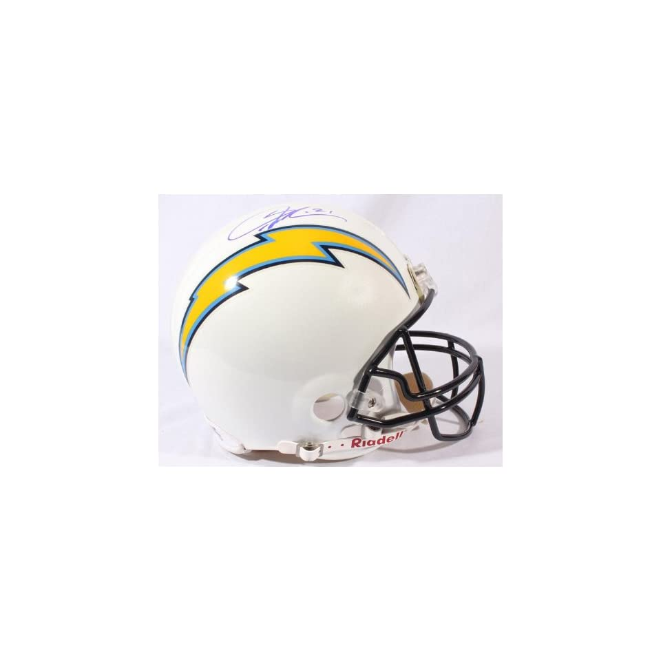 Signed LaDainian Tomlinson Helmet   San Diego Chargers Proline   JSA   Autographed NFL Helmets