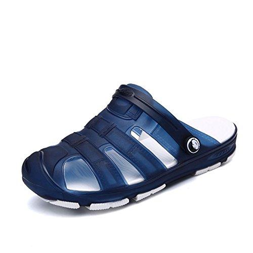 Xing Lin Sandalias De Hombre Baño Primavera Sandalias Zapatillas Casual Masculino De Plástico Anti-Patines Playa Hoyo Seco Rápido Zapatos Zapatos De Plástico blue