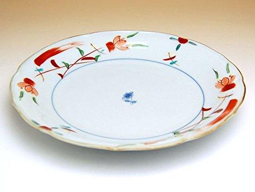 【5枚セット販売】【有田焼】花飾り 7寸皿 149077 【サイズ】径21cm×高さ3.2cm   B00VYM23XU