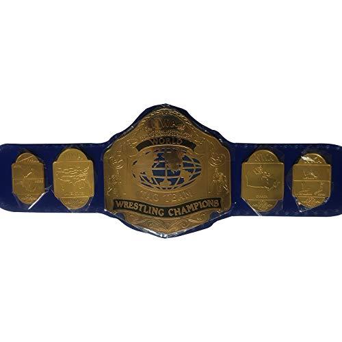 EasyBuyingShop N.W.A. World Tag Team Wrestling Championship Replica Title Belt - Brass Metal 4mm Plates