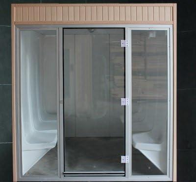 Cabina baño vapor 8d, todo incluido, también generador vapor (2,06 frontal x 1,90 largo x 2,24 alto cm): Amazon.es: Bricolaje y herramientas