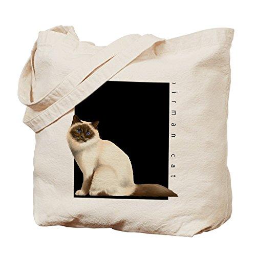 Cafepress–CAT Breed: Birman Cat–Borsa di tela naturale, tessuto in iuta