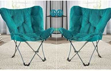 Pack of 2 Teal Mainstay Butterfly Chair