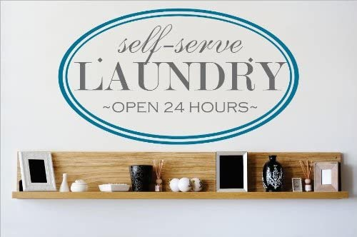 Vinyl Decal in various colors and sizes Self Serve Laundry Room Wall Decal