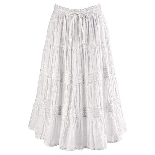 CATALOG CLASSICS Women's Bohemian Romance Maxi Long Skirt - 32
