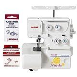 janome 7034d - Janome Magnolia 7034D Serger Sewing Machine w/2-Piece