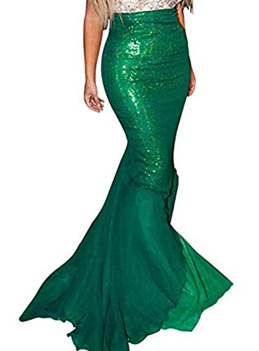 Women Halloween Costume Cosplay Mermaid Fancy Dress Skirt