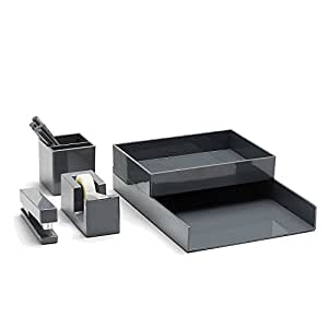 Poppin All Set, 12-Piece Desk Collection Set, Gray