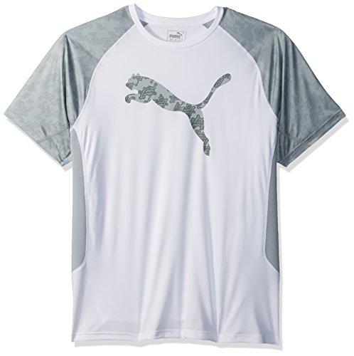 PUMA Men's Vent Cat T-Shirt, White, S