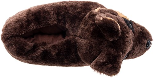 Silver Lilly German Shepherd Slippers - Plush Dog Slippers w/Platform by (Brown/Tan/Black, Medium) by Silver Lilly (Image #4)