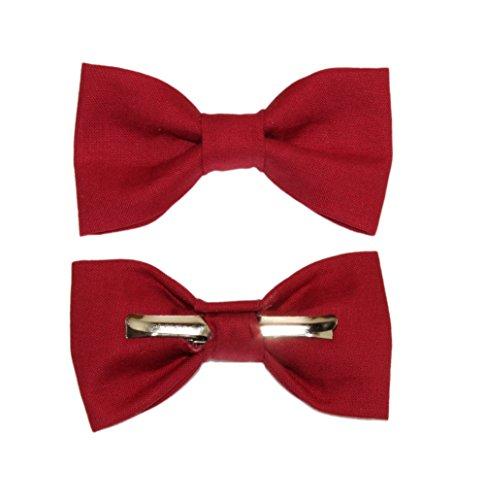 Toddler Boy 4T 5T Wine Red Clip On Cotton Bow Tie Bowtie