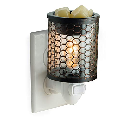CANDLE WARMERS ETC Pluggable Fragrance Warmer- Decorative Plug-in for Warming Scented Candle Wax Melts and Tarts or Essential Oils, Chicken Wire