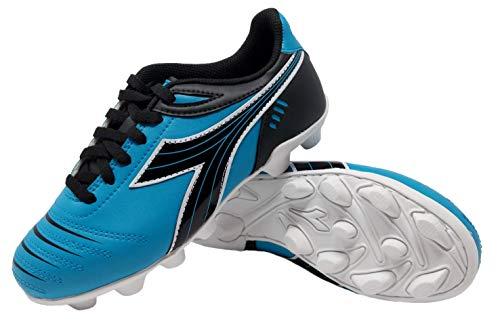 - Diadora Kid's Cattura MD JR Soccer Cleats (10.5 Little Kid, Columbia Blue/Black/White)