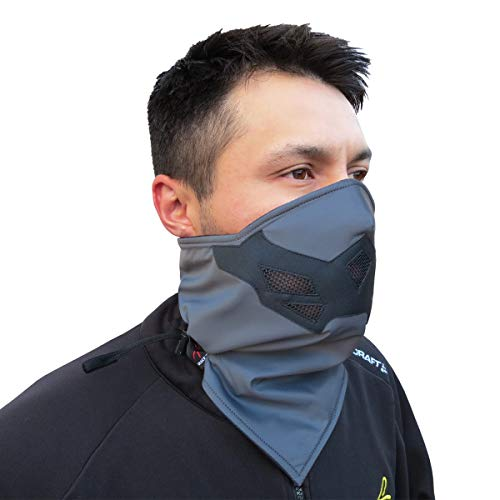 (Half Face Mask for Cold Winter Weather. Use this Half Balaclava for Snowboarding, Ski, Motorcycle. (Many Colors) (Gray))