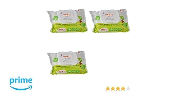 Toallitas Vital Baby para mano y cara sin fragancia, paquete de 3: Amazon.es: Bebé