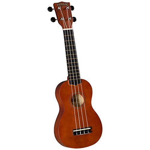 Hamano U-30BR Colorful Soprano Ukulele - Brown