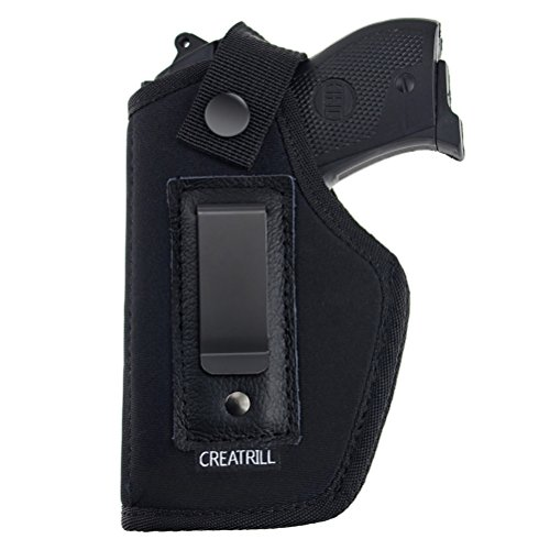 Creatrill Inside The Waistband Holster | Fits M&P Shield 9mm.40.45 Auto/Glock 26 27 29 30 33 / Ruger LC9, LC380 / Springfield XD & Similar Pistols | Gun Concealed Carry IWB Holster