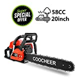 Yiilove COOCHEER 20' 58CC Gas Powered Chainsaw 2 Stroke Handed Petrol Gasoline Chain...