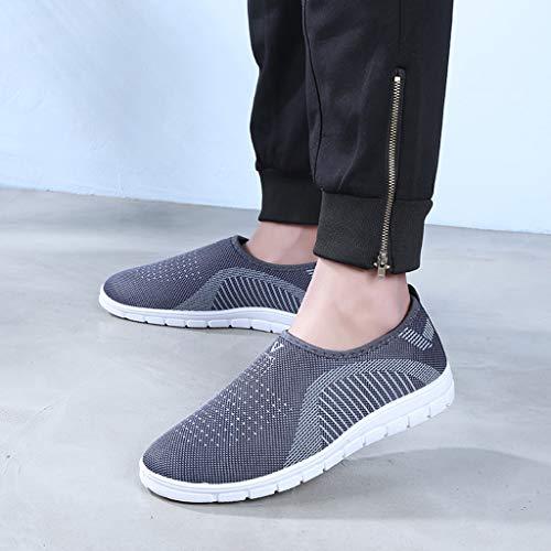 kaifongfu Men's Footwears Shoes Slip-On Sport Shoes Sneaker Comfortable Shoes(Gray,39) by kaifongfu (Image #2)
