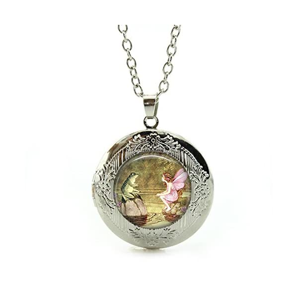 Womens Custom Locket Closure Pendant Necklace Sunflower Included Free Silver Chain Best Gift Set