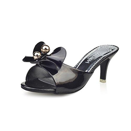 cool pantofole alto estate donna cool nero Il sandali tacco nuova kit ZHZNVX casual 39 nuovo e pantofole SwtEUAq