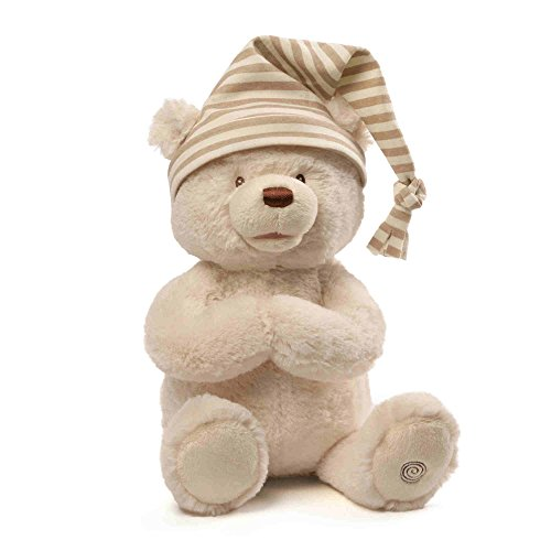 Baby GUND Goodnight Prayer Bear Teddy Animated Stuffed Animal Plush, 15