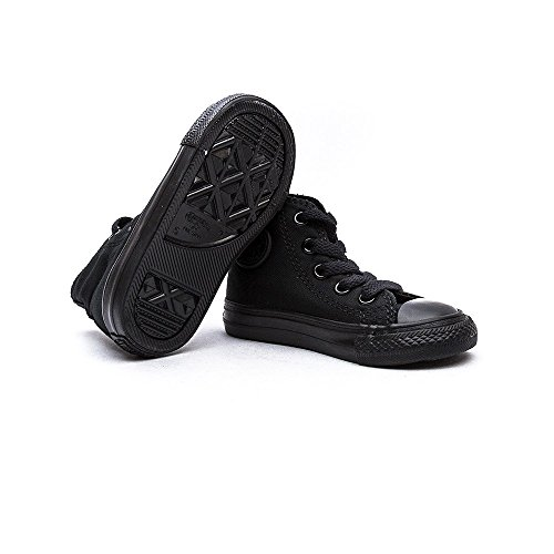 Converse Shoes - Converse Chuck Taylor All Star Kids Classic Hi Canvas Trainers - Black Monochrome