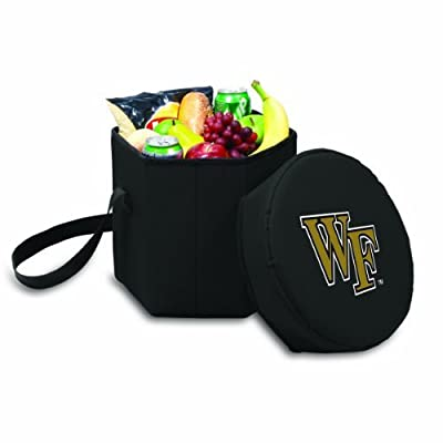 NCAA Wake Forest Demon Deacons Bongo Insulated Collapsible Cooler, Black by Picnic Time