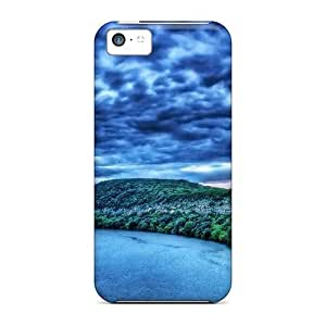 High Grade LastMemory Flexible Tpu Case For Iphone 5c - A Bend In The River Hdr